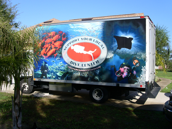 Fleet wrap by Lake Graphics located in Maine