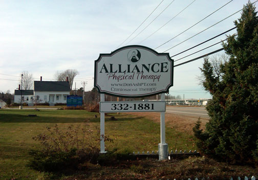 New Vinyl Sign for Alliance Physical Therapy in Rochester, NH
