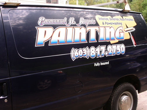 Vehicle lettering for maine and new hampshire contractors