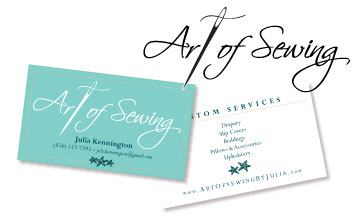 Logo Design for custom seamstress. NH, ME and MA