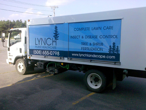 Lynch Plant Health Care Spray Rig wrap in Wayland, MA
