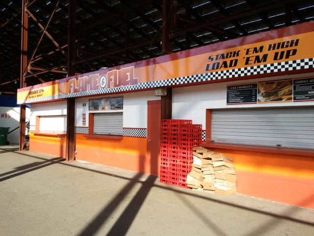 dimensional letters and menu boards for concession stand