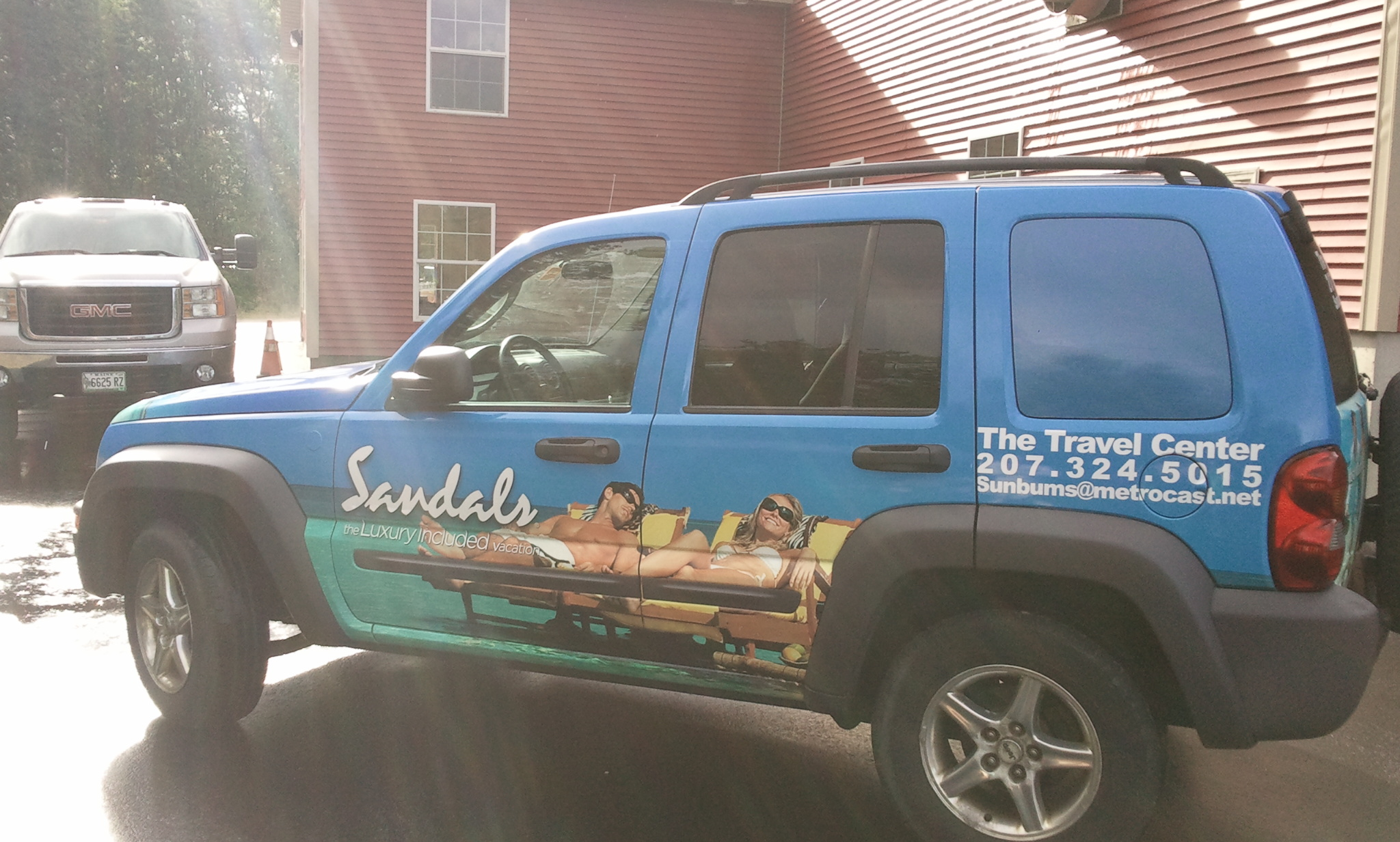 full vehicle wrap for sanford maine business by lake graphics